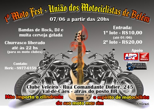 Panfleto do evento de moto clubes