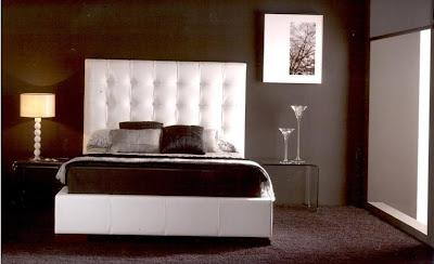 Decoracion actual de moda dormitorios de color marr n - Cortinas marron chocolate ...