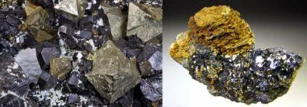 Contoh gambar batuan mineral yang mempunyai sifat kemagnetan yaiyu Magnetite (gambar kiri) dan pyrhotite (gambar kanan)