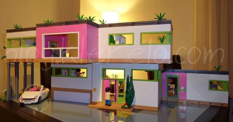 Nouveaut s playmobil 2014 villa moderne luxusvilla for Agrandissement maison moderne playmobil