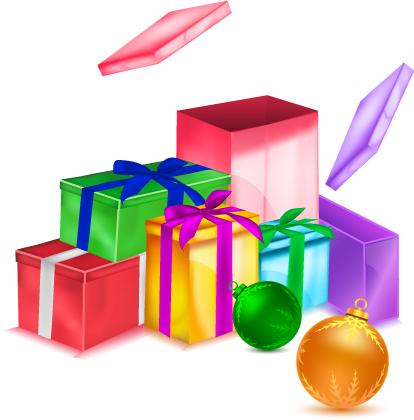 Regalos navideños - Vectoriales