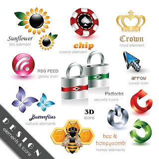 光沢ある立体的なアイコン Beautiful and Free 3D Vector Icons2