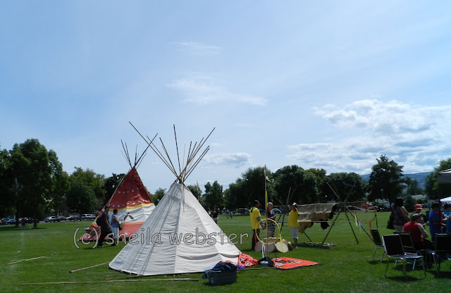 Tents, pelts, drums and set up for all to see