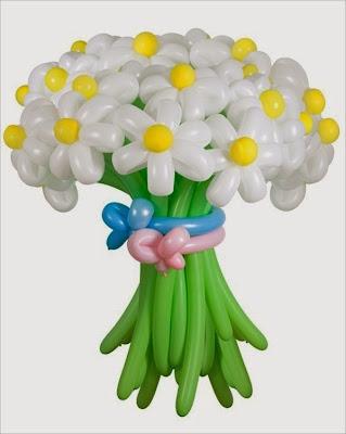 make an easy balloon flower bouquet