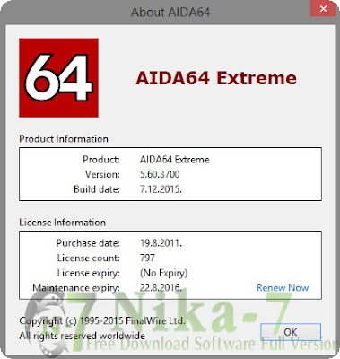 AIDA64 Extreme Edition v5.60.3700 Stable + Key (PC)