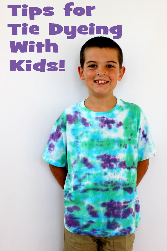 Tips for tie dyeing with kids - Technique tie and dye ...