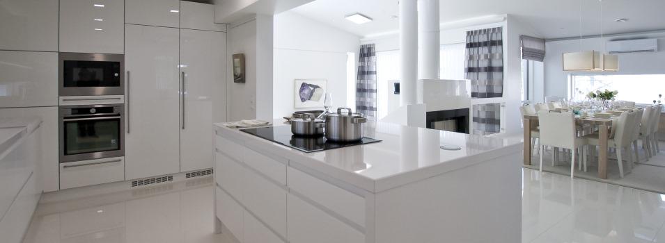 Valkoinen keittiö  Keittiö  Pinterest  Modern and Kitchens