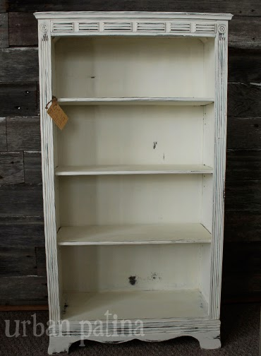 Urban Patina Authentically Crafted Home Gift White Distressed Bookcase