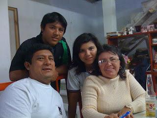 Juan, Paula, Manolo and Paulina at home in Isla Mujeres