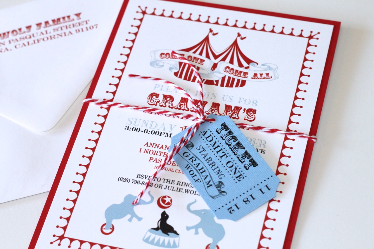 Embellished Paperie Blog – Circus Party Invites