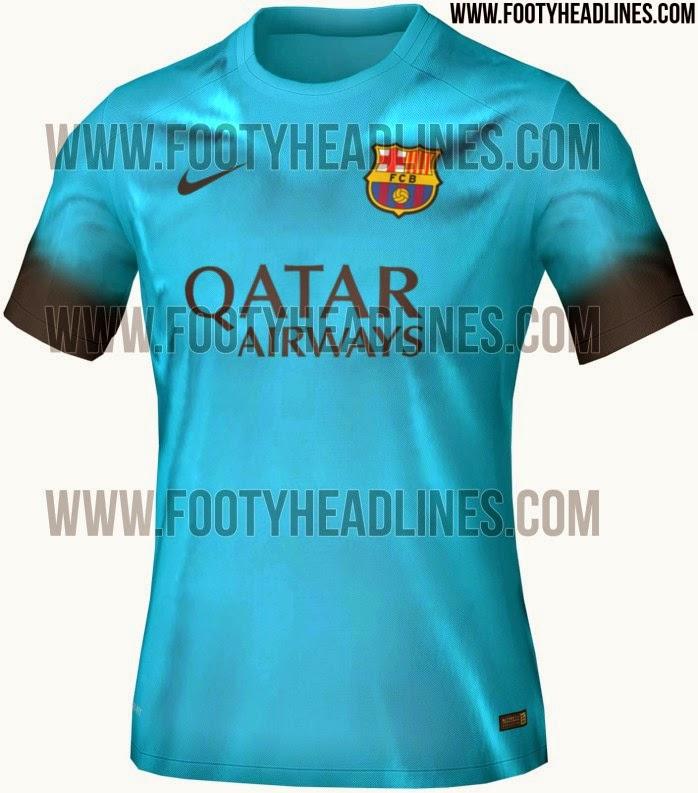 Um Besteirol Brasileiro  Terceiro uniforme do Barcelona para 2015-2016 38557009e77