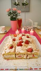 Mansikka-ruusu Britakakku - Maasika-roosi Brita tort
