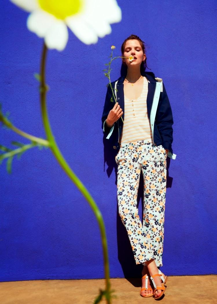 Petit Bateau floral print trousers
