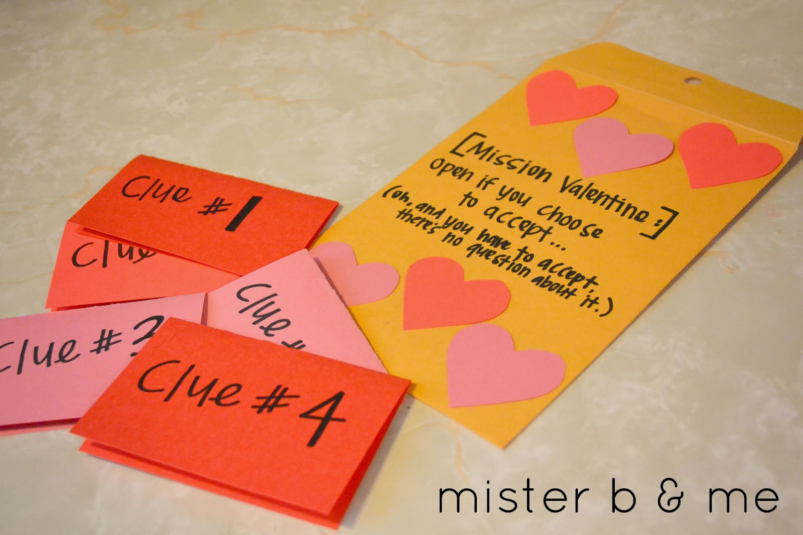 Mister b and me diy valentines scavenger hunt for Valentines day trip ideas