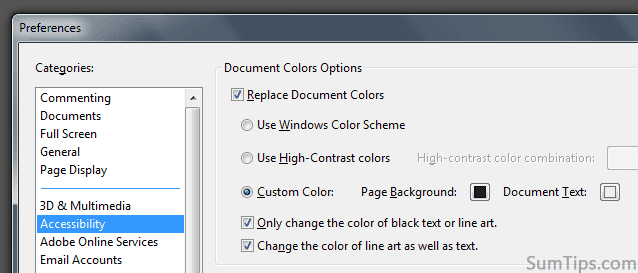 Adobe Reader: Change Text, Background Color for Eye-Friendly Reading
