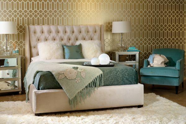Decoraciones Recamara Principal ~ La pared principal de este hermoso dormitorio tiene tintes retro con