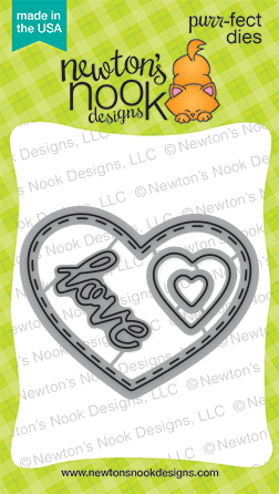 Darling Hearts Die Set | Heart & Love Dies| Newton's Nook Designs #newtonsnook
