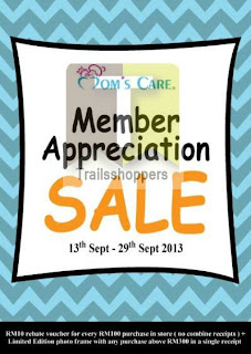 Moms Care Member Appreciation Sale 2013