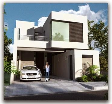 Fachadas de casas modernas fachadas de casas modernas for Planos de casas modernas mexicanas