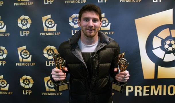 Messi, el más galardonado de los premios LFP