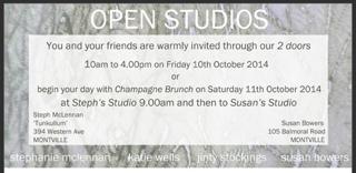 SUSAN BOWERS - OPEN STUDIO 10 & 11 OCT 2014