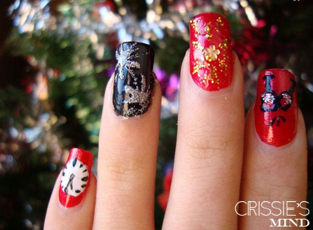 Happy New Year Nails 2013