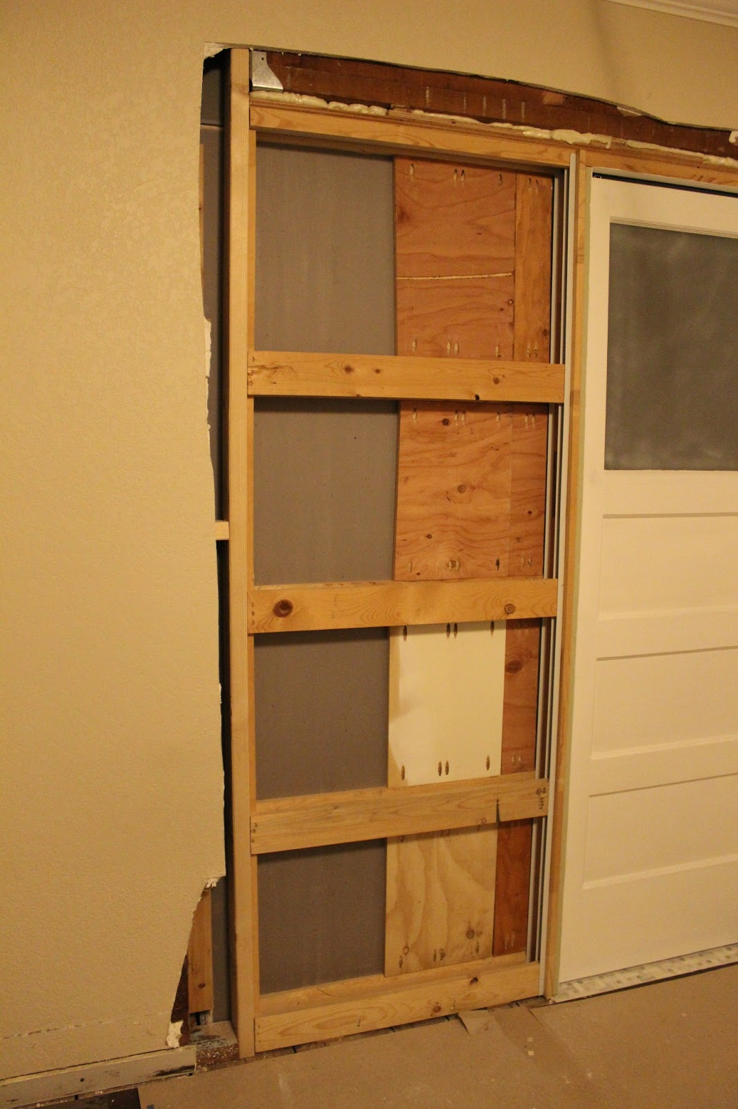 Lastly, I Installed Two Sections Of Scrap 3/4u2033 Plywood In Between The Gaps  In The Frame. I Used Pocket Screws And PL Premium To Attach These Pieces Of  ...