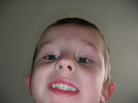 close up photo of boy taken by himself
