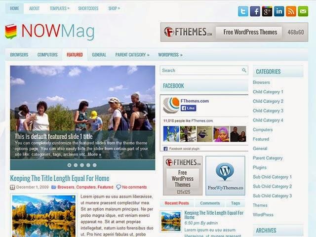 NowMag - Free Wordpress Theme