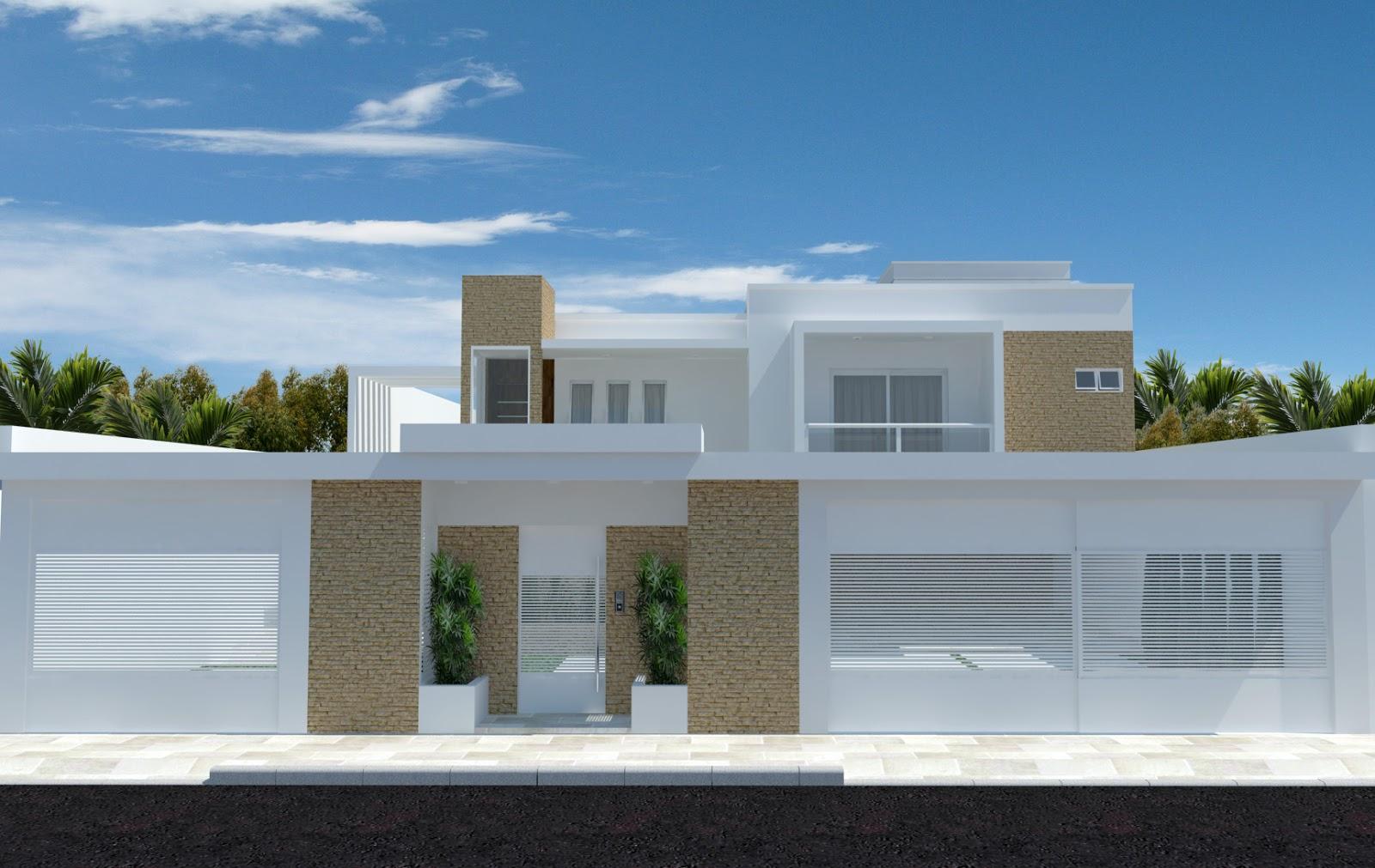 #356B96 Antes de fazer o projeto escolhi algumas inspirações para definir  4188 Imagens De Casas Com Janelas De Aluminio