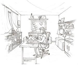 Desenho- eu e meu cafofo