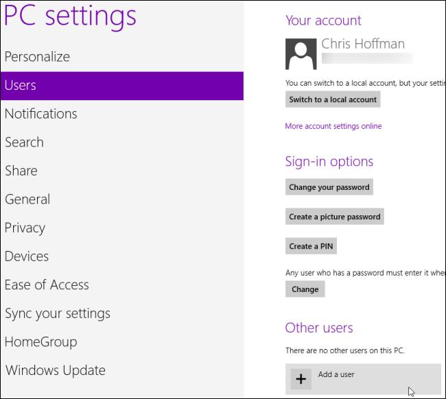 Giám sát và kiểm soát việc sử dụng máy tính của trẻ em trên Windows 8 M3