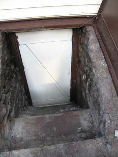 house out of focus basement bulkhead