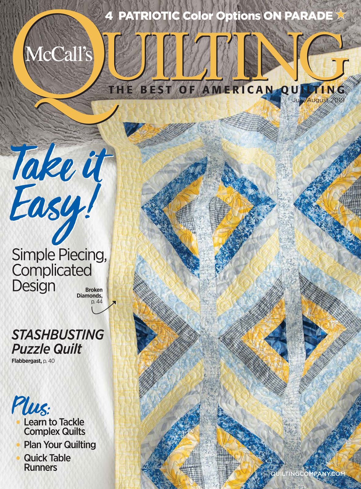 New! 2019 Jul-Aug McCall's Quilting Magazine