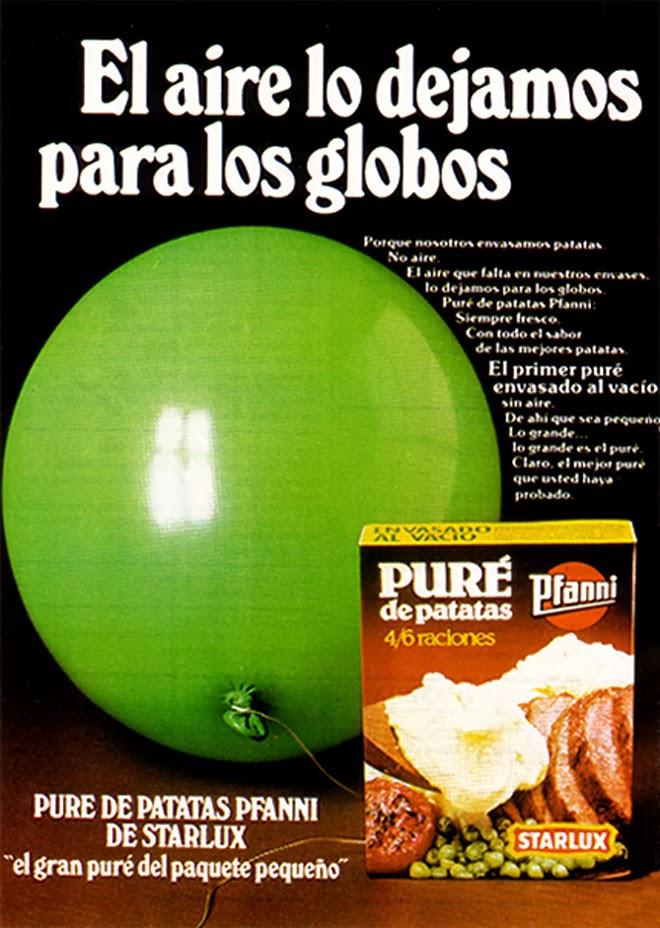 Puré Starlux Publicidad de los años 80
