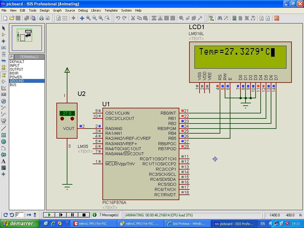 Proteus Projects Electronic Circuit Design Software Microchip Pic Microcontrollers Belongs Interfacing Gsm Module Using Can Be Used Interface Real Time Modules Like