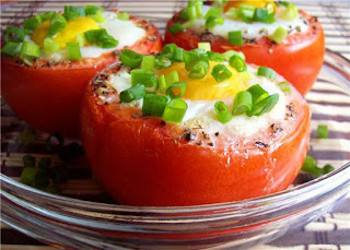How to Make Egg Stuffed Tomatoes in the oven.