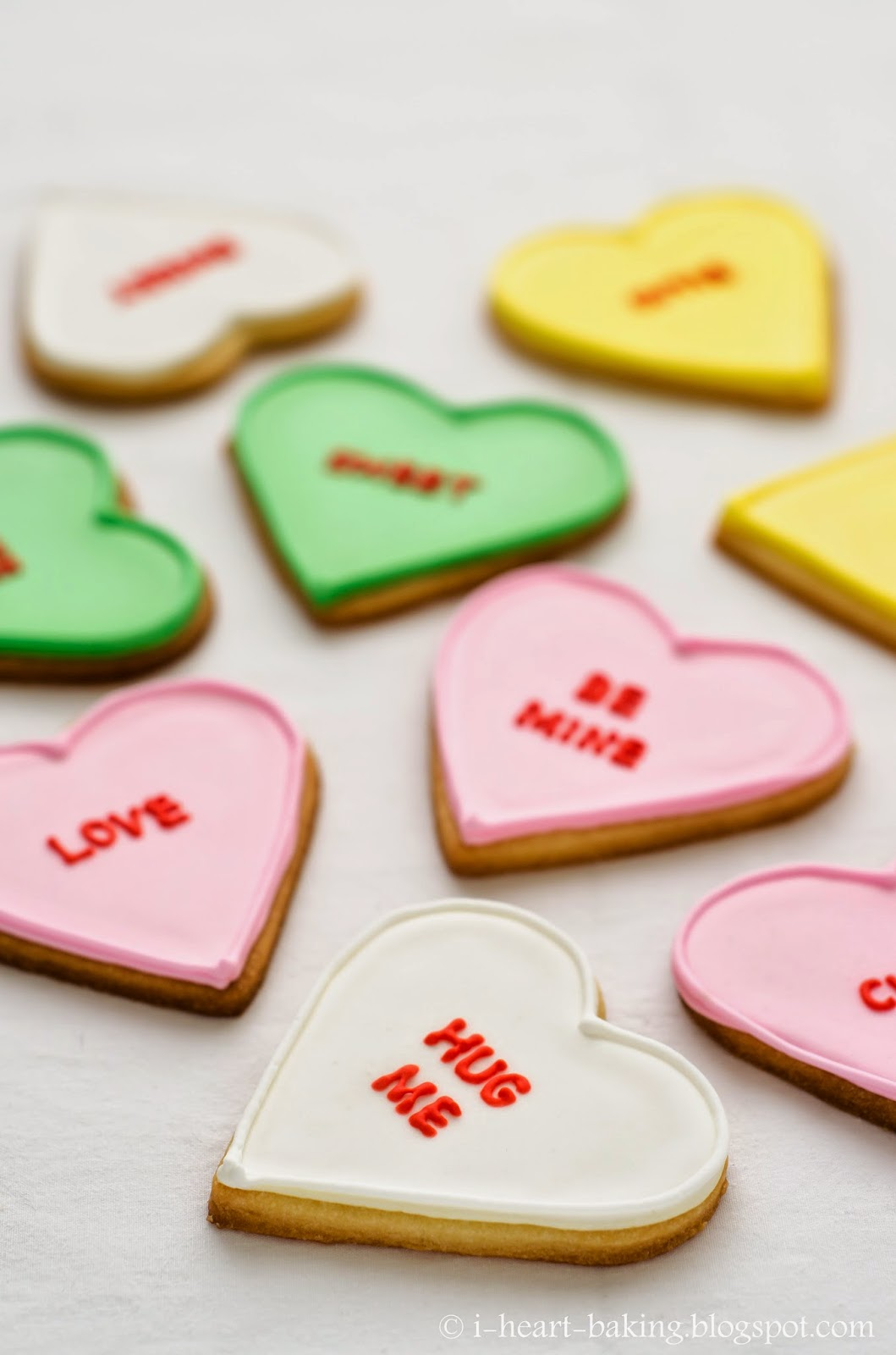 heart baking!: valentine's conversation heart cookies