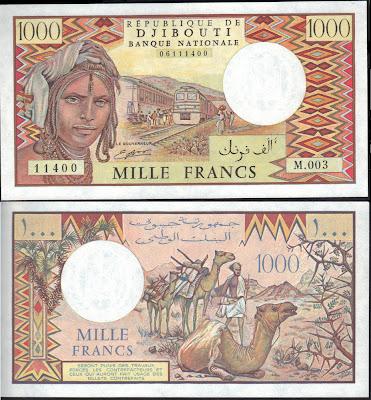 Djibouti 1000 Francs 1991 P#  37d