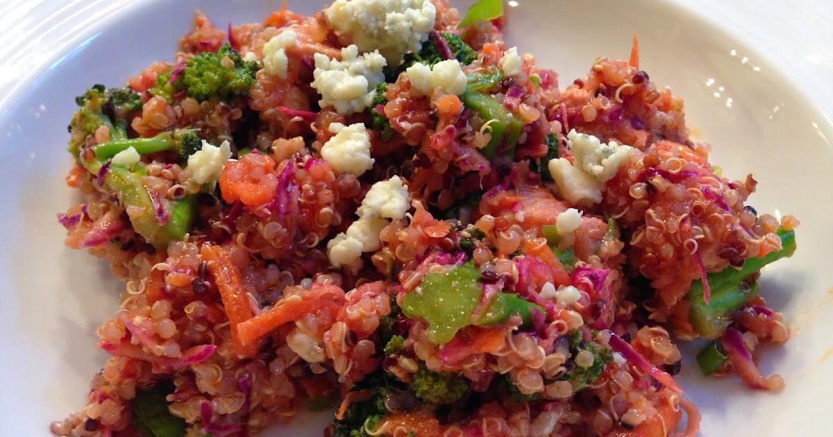Stefanie's Gluten Free Kitchen!: Buffalo Chicken Quinoa Salad