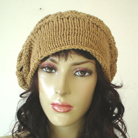 Womens Knit Hat Pattern : free knitting pattern: womens knit beret models