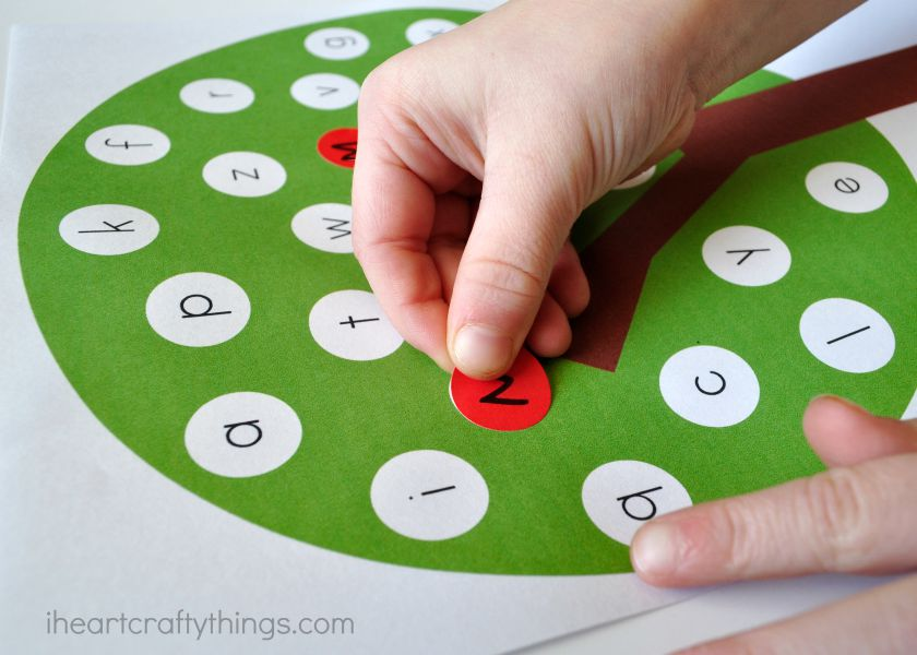 How To Use The Apple Tree ABC Match Preschool Printable
