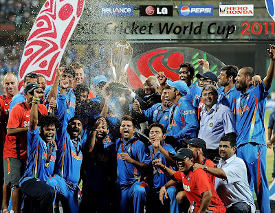 Indian Team with cup