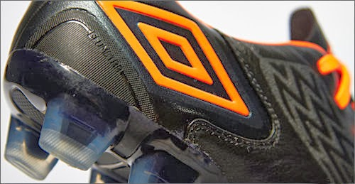 New footbal boots umbro geometra II with white and black colors
