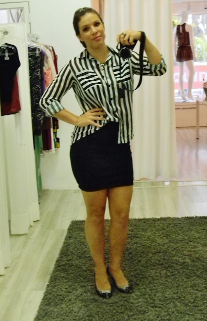 camisa preto e branco