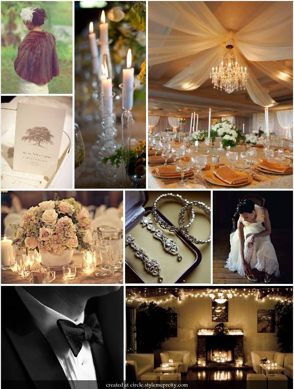Love this wedding inspiration board Looks like a glam Victorian theme