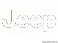 Mewarnai Gambar Logo Mobil Jeep