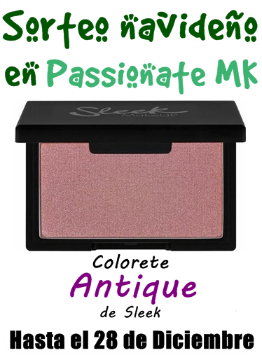 "Sorteo en el blog ""Passionate Make up"""