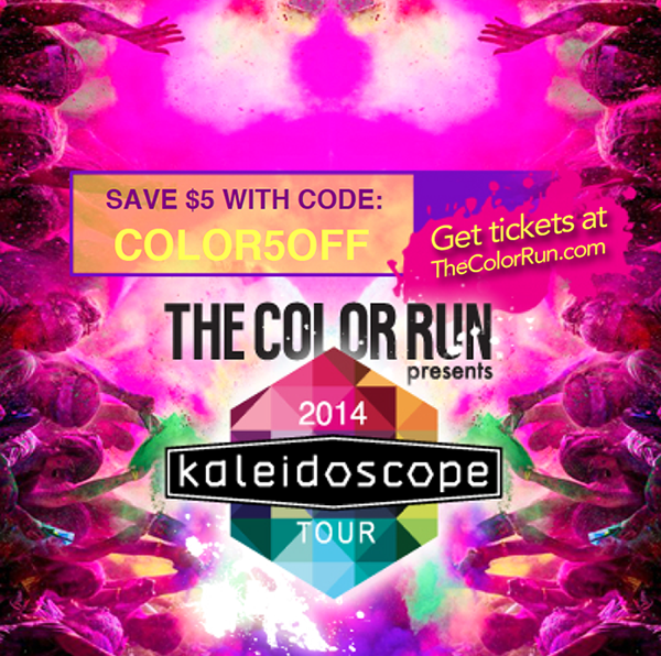 The Color Run Discount Code, click through for your chance to #win 2 passes to the Milwaukee event on July 6th! | June 2014 Giveaway, www.blackandwhiteobsession.com #giveaway #thecolorrun #Happiest5K