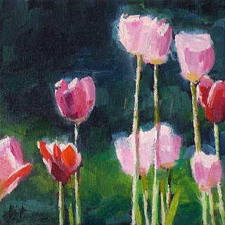 Pink Tulips by Liza Hirst
